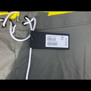 Oakley Swim - Men's Oakley Bathing Suit grey/yellow size 36